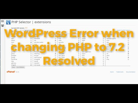 WordPress – Changing to PHP 7.2 MySQL extension error fix in cPanel