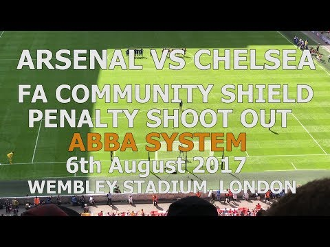 Arsenal v Chelsea Community Shield ABBA Penalty Shootout 06-08-2017 Wembley Stadium London