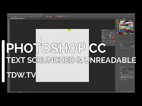Photoshop CC – Garbled & Unreadable Text – Leading