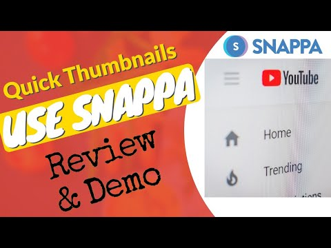 Snappa Review & Demo | YouTube thumbnail templates | YouTube Art