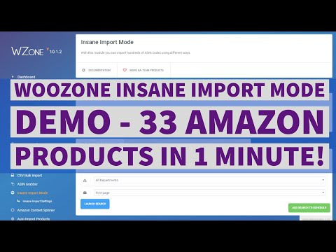 Woozone (WZone) Insane Import Mode Demo – 33 Products in 1 Minute