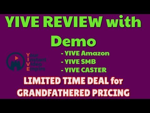 YIVE Review & Demo   LIMITED DEAL PRICING   YIVE Amazon   YIVE Caster   YIVE SMB