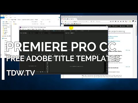 Adobe Premiere Pro CC (and CS6) Title Templates free from Adobe