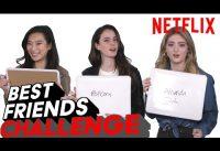 Spinning Out Cast Best Friends Challenge | Netflix
