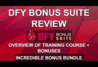DFY Bonus Suite Review and Overview | WordPress Bonus Page Training Course