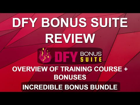 DFY Bonus Suite Review and Overview | WordPress Bonus Page Training Course