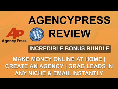 AgencyPress Review | Lead Gen with WordPress | Make Money with Services