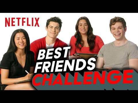 The Half of It Cast Take the Best Friends Challenge | Netflix