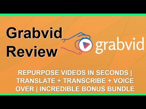 Grabvid Review | Repurpose Videos | Amazing YouTube Bonuses