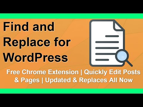 Free WordPress Find and Replace Chrome Extension