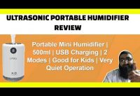 Ultrasonic Portable Humidifer Review | Cool Mist | USB