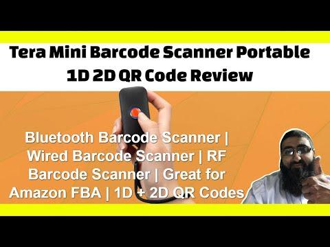 Tera Mini Barcode Scanner Portable 1D 2D QR Code Review | Bluetooth Barcode Scanner