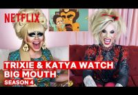 Drag Queens Trixie Mattel & Katya React to Big Mouth | I Like to Watch | Netflix