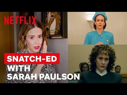 Sarah Paulson Breaks Down Her Iconic Career Through Wigs   Netflix